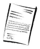 Sketched document Stock Photo