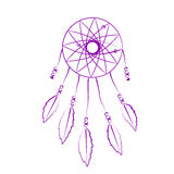 Sketched dream catcher. Royalty Free Stock Images