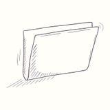 Sketched empty folder desktop icon Royalty Free Stock Photos