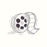 Sketched film reel desktop icon Stock Photos