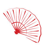 Sketched folding fan. Royalty Free Stock Images