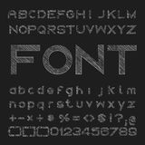 Sketched font vector, Alphabet and number design Stock Photo