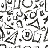 Sketched geometric shapes seamless Royalty Free Stock Image