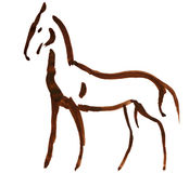Sketched horse Stock Photography