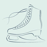 Sketched ice skates. Royalty Free Stock Photography