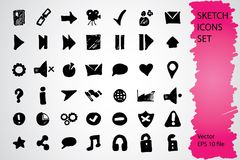 Sketched icon set Stock Photography