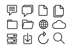 Sketched internet icons. Hand Sketched internet icons for your designs and presentations Royalty Free Stock Images