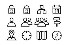 Sketched internet icons vector Royalty Free Stock Image