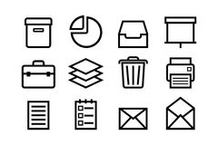 Sketched internet icons vector Stock Photos