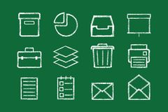 Sketched internet icons vector Stock Image