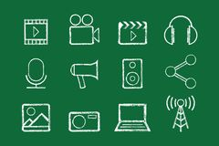 Sketched internet icons  Royalty Free Stock Photography