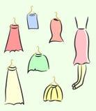 Sketched ladies wardrobe Royalty Free Stock Photos
