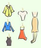 Sketched ladies wardrobe Stock Image