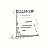 Sketched notebook desktop icon Royalty Free Stock Photography