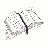 Sketched open book desktop icon Stock Images