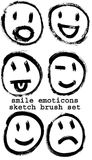 Sketched smiley emoticons Stock Photography