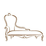 Sketched sofa. Royalty Free Stock Images