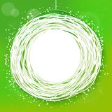 Sketched sunny green abstract label Stock Image