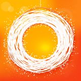 Sketched sunny orange colors abstract label Royalty Free Stock Photos