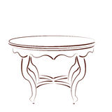 Sketched table. Stock Photography