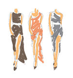 Fashion Sketch Illustration Royalty Free Stock Photography