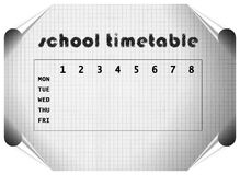 Sketched timetable Royalty Free Stock Image