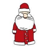 Sketched uppsökte Santa Claus Cartoon Element vektor illustrationer