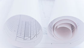 Sketcher rotolato Fotografia Stock
