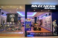 Sketchersafzet in Suria Sabah Shopping Mall, Maleisië stock foto's