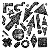 Sketches. Set of vector sketched objects vector illustration