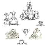 Sketches of architectural elements Stock Images