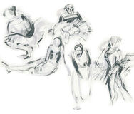 Sketches of ballerinas, drawing Royalty Free Stock Photos