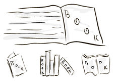 Sketches of books Stock Image