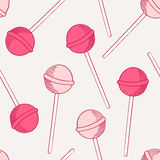 Sketches candies seamless pattern Royalty Free Stock Images