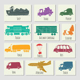 Sketches of cargo delivery Stock Photo