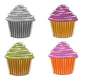 Sketches of cupcake Royalty Free Stock Image