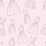 Sketches design dress hand drawn pen illustration Royalty Free Stock Photos
