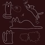 Sketches, doodle, cats Stock Images