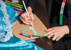 Sketches fashion designer Stock Images