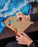 Sketches fashion designer Stock Photo