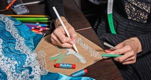 Sketches fashion designer Royalty Free Stock Photos