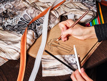 Sketches fashion designer Royalty Free Stock Image