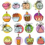 Sketches gift packages.vector Stock Image