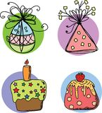 Sketches gift packages,vector Royalty Free Stock Photo