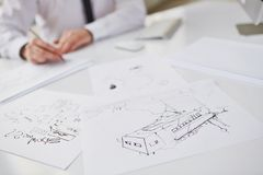 Sketches Royalty Free Stock Photography