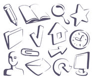 Sketches the Internet icons Stock Images