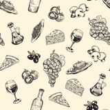 Sketches of Italian cuisine Stock Photography