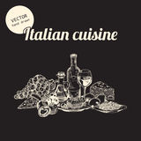 Sketches of Italian cuisine Royalty Free Stock Photos