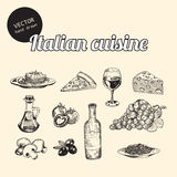Sketches of Italian cuisine Royalty Free Stock Image