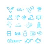 Sketches for logos or icons. Set for design Stock Photography